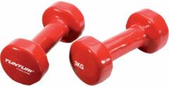 Tunturi Vinyl Dumbbells 2x 3 kg Red