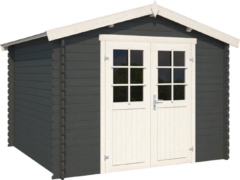 Outdoor Life Products Outdoor Life | Blokhut Norah 275 | Carbon Grey | 295x295 cm