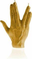 Goud gelakte Candellana figuurkaars, design: Hand SPCK Hoogte 18 cm (30 uur)