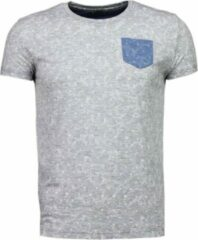 Black Number Blader Motief Summer - T-Shirt - Grijs Blader Motief Summer - T-Shirt - Groen Heren T-shirt Maat S