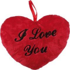 Merkloos / Sans marque I Love You Pluchen Hart 18 cm