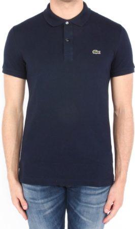 Afbeelding van Marineblauwe Lacoste Slim Fit Piqué Polo Heren - Navy Blauw - Maat XL