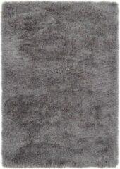 Ikado Hoogpolig vloerkleed in polyester mix grijs - 118 x 165 cm