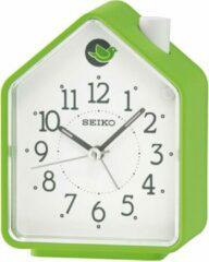Seiko wekkerkoekoek huis groen met witte wijzerplaat QHP002M