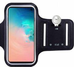 Zwarte Sport Armband Sportband Hardlopen Universeel voor Smartphone / Telefoon / Apple iPhone / Samsung / Huawei