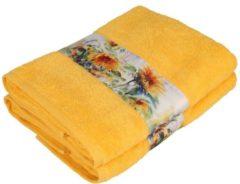Clé de la Vie Duschtuch Sonnenblume , 2er-Set, gelb, 70x140cm