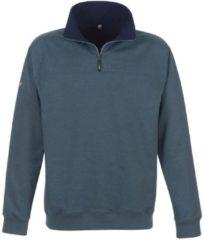 Herren Sweatshirt mit Reißverschluss Trigema jeans-melange