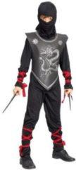 Zwarte Confetti shopping Group Ninja 7-9 jaar (120-130cm)
