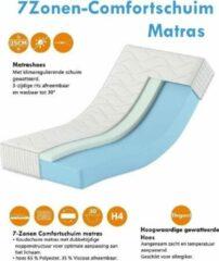 Witte Karex® Komfort Serie Comfortschuim Matras 90x200 Met 7 Ligzones Hoogte 25cm H3 H4