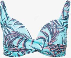 Osaga dames bikinitop met bloemenprint - Blauw - Maat S