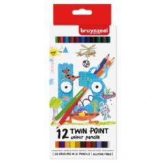 Koninklijke Talens B.V Bruynzeel Kids 12 kleurpotloden - dubbele punt