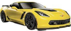 Gele Chevrolet Maisto Corvette Z06 2015 Schaalmodel 1:24 Auto