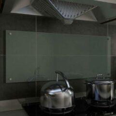 VidaXL Spatscherm keuken 100x40 cm gehard glas wit
