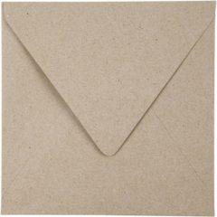 Naturelkleurige Recyclede enveloppen, afm 16x16 cm, 120 gr, 50 stuks, naturel