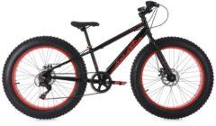 Mountainbike MTB 24 Zoll Fatbike SNW2458 KS Cycling schwarz-rot