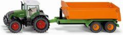 Groene Siku FARMER Fendt met haaklifttrailer en bak