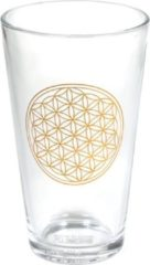 Goudkleurige Yogi & Yogini Drinkglas Bloem des Levens – Flower of Life (480 ml)