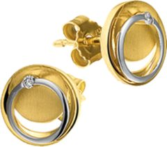 Goudkleurige The Jewelry Collection Oorknoppen Diamant 0.02ct (2x0.01ct) H Si - Bicolor Goud