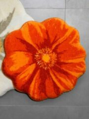 Badmatten Bloem Grund oranje