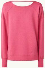 Roze Sweaty Betty Trainings sweater met rugdecolleté