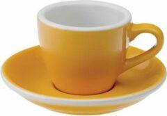 Gele Loveramics Egg Espresso Kop&Schotel 80ml - Yellow
