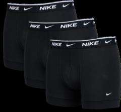 Zwarte Nike Swoosh Trunk 3Pack - Unisex Ondergoed - Black - 95% Katoen, 5% Elastaan - Maat L - Foot Locker