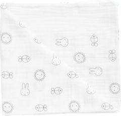Nijntje swaddle, omslagdoek wit, maat 120*120 cm