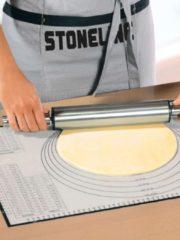 Stoneline Backmatte Stoneline weiß-grau