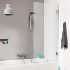 Get Wet by Sealskin I AM badwand 1 delig 750 breed 1600 hoog Chroom zilver hoogglans helder~ glas met antikalk SK010755335100