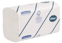 Witte Kleenex papieren handdoeken Ultra intergevouwen 2-laags 124 vellen pak van 5 stuks