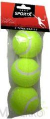 Gele SportX tennisballen 3 stuks
