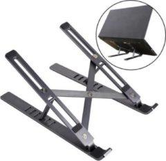 Antraciet-grijze Merkloos / Sans marque Antraciet Gekleurde Aluminium Inklapbare Laptop standaard / Ipad Standaard / Tablet Standaard