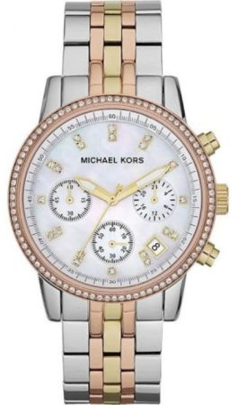 Afbeelding van Michael Kors Ritz Tri-color MK5650 Dames Horloge