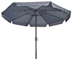 Grijze Lesli Living Parasol Libra Grijs ø3,5mtr