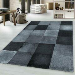 COSTA Impression Marmaris Design Laagpolig Vloerkleed Zwart / Grijs- 80x250 CM