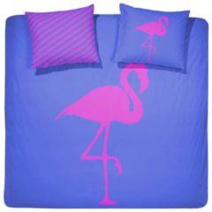 Blauwe Damai (BFF) Best Flamingo Forever - Dekbedovertrek - 240 x 200/220 - Lits-jumeaux - Electric Blue