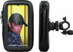 Zwarte Shop4 telefoonhouder fiets - Universeel - Spatwaterdicht - tot 6.21 Inch