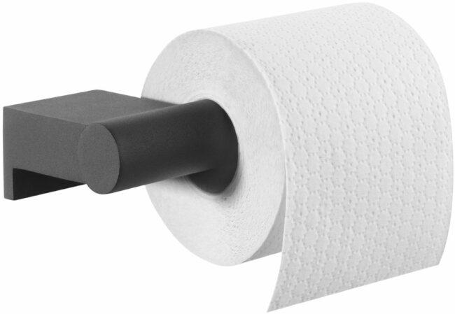 Afbeelding van Tiger Bold toiletrolhouder zonder klep 16,8x8,5x4,2 cm, zwart