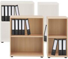 Regal Aktenregal Büroregal Schrank Bücherregal Büroschrank Standregal Omegos 1 VCM Buche