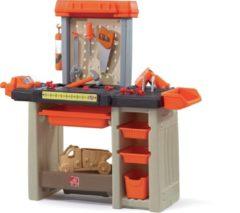 Step2 werkbank Handyman 90 cm oranje 31-delig