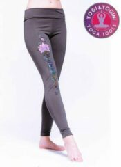 Grijze Yogi & Yogini Yoga legging Lotus Msportlegging
