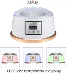 AIMES Wax Kit - Wax ontharen - 300 gram wax beans - Rosé - groen tea - Créme - 20 houten spatels - Wax kit ontharingsapparaat - Pijnloos - Luxe design