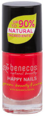 Rode Benecos Vegan Nail Polish Hot Summer