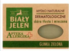 Bilay Jelen 1921 Bialy Jelen - Natuurlijke Dermatologische Zeep met Groene Klei - Goed Voor Vette Huid Met Eczeem Vergrote Porien Acne en Meeeters -125 g