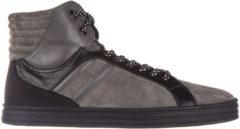 Grigio Hogan Rebel Scarpe sneakers alte uomo in camoscio r141 basket