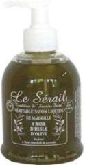 Le Serail Vloeibare olijven zeep zonder palm olie 2 x 300ml handpomp