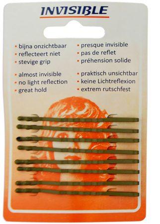 Afbeelding van Bruine Invisible - Haarschuifjes - Bruin - Lang - 9 Stuks
