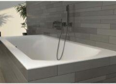 Witte Riho Linares ligbad 180x80x49cm velvet acryl wit BT46105