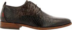 Donkerbruine Rehab Greg Croco Vnz Formal Shoe Men Dark Brown 44