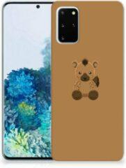Bruine Samsung Galaxy S20 Plus Telefoonhoesje met Naam Baby Hyena